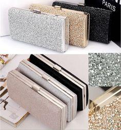 $ 17.99 saco de mulheres strass cristal embreagem dia carteira bolsa de festa de casamento banquete preto / prata em Clutches de Bagagem & Bags no AliExpress.com | Alibaba Group