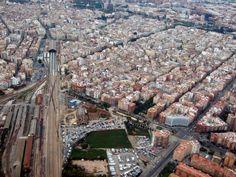 Valencia desde el aire. Futuro Parque Central