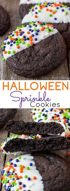 These easy Halloween Sprinkle Cookies are the perfect addition to your Halloween festivities! | livforcake.com