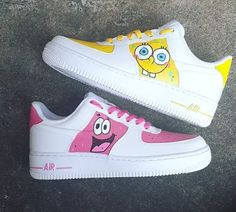 Nike Air Force Ones, Air Force One Shoes, New Air Force 1, Air Force Sneakers, White Nike Shoes, Nike Air Shoes, Nike Custom Shoes, Custom Jordans, Custom Painted Shoes