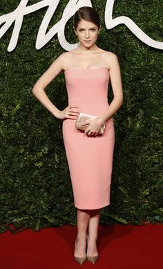 Kendrick appropriately chose a British It designer for the BFAs, and this color on her? Gorgeous.