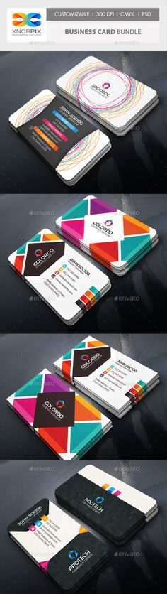 Business Card Bundle 3 in 1-Vol 64 - Corporate Business Cards
