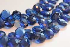 6 beads: AA-AAA Kyanite Blue Quartz Faceted Pear Briolettes, Size 13 - 14 mm Approx (GM2226FP)