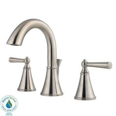 Pfister Saxton 8 in. Widespread 2-Handle High Arc Bathroom Faucet in Brushed Nickel-GT49-GL0K - The Home Depot