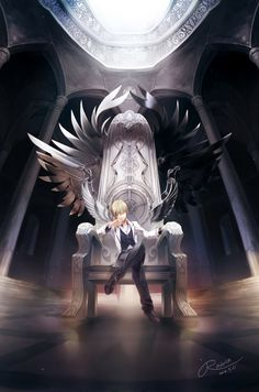 Rahwia Kim, luz (Nico Nico Singer), Feather Wings, Black Wings, Column, Throne