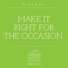 Wedding Week: Makeup Tips