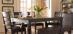 dark table dining room - Google Search