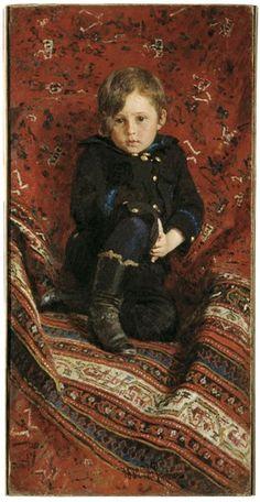 """""""Portrait of Yury Repin, the Artist's Son"""", 1882, by Ilya Repin (Russian, 1844-1930)."""
