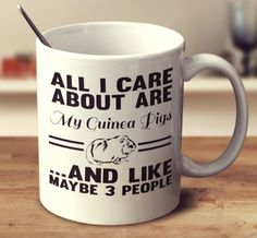 ALL I CARE ABOUT ARE MY GUINEA PIGS AND LIKE MAYBE 3 PEOPLE – Super Mug