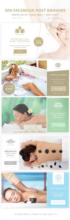Spa Facebook Post Banner - Social Media Web Elements                                                                                                                                                                                 More