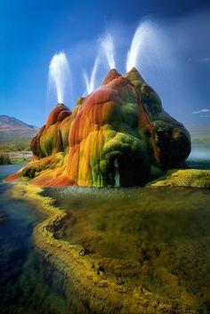 Nevada Desert Fly Geyser