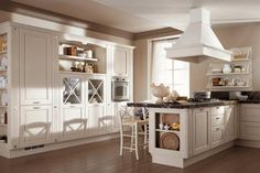 With alluminium accents and modern twist. could you be my kitchen? Shabby Chic Kitchen, Kitchen Decor, Ground Floor, Feng Shui, Sweet Home, Kitchen Cabinets, Flooring, The Originals, Interior Design