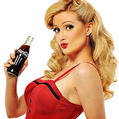 Holly Madison pin up, expression. I'll have similar hair.