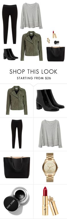 """Outfit inspiration"" by monika1555 on Polyvore featuring Yves Saint Laurent, JunaRose, Gap and Michael Kors"