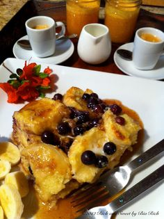 Blueberry Buttermilk Baked French Toast