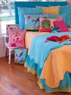 Mermaid & Swimming Dolphins King Bed Set