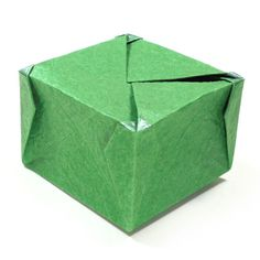 How to make a closed square origami box IV (http://www.origami-make.org/howto-origami-box.php)