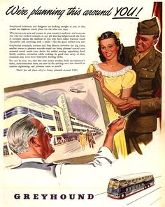 Vintage Greyhound Ad - 1945