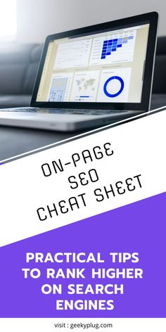 The Ultimate On-Page SEO Cheat Sheet- Best Optimization Practices - GeekyPlug Website Optimization, Seo Optimization, Search Engine Optimization, Seo For Beginners, Cloud Infrastructure, On Page Seo, Seo Tips, Make Money Blogging, Cheating