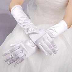Elbow Length Fingertips Glove Elastic Satin Bridal Gloves Spring Summer Fall Winter – USD $ 10.00