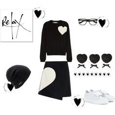Hearts by juliabachmann on Polyvore featuring moda, MSGM, Acne Studios and Coal