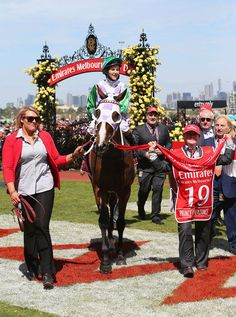 Jockey Michelle Payne became the first ever woman to win the Melbourne Cup on Tuesday, but she says she couldn't have done it without her brother Stevie, who has Down syndrome and works as a strapper at Darren Weir stables.