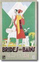 Vintage women's golf poster