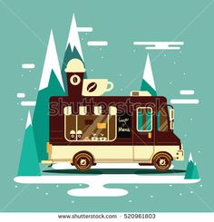 #auto #automobile #background #business #candy #car #cartoon #cheerful #classic #coffee #cold #corners #cream #delivery #design #dessert #eating #flat #food, #ice #icon #illustration #isolated #landscape #local #machine #refreshment #retro #rounded #seasonal #side #sign #simple #small #snack #speed #street #sweet #symbol #transport #transportation #treat #truck #van #vector #vehicle #view #wafer #wheel #winter #shutterstock #coffee #bakery