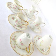 Old Abbey Limoges France Demitasse Tea Cup and by DesignWise4U