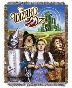 Warner Brothers The Wizard of Oz Group Triple Woven Tapestry Throw - Multi