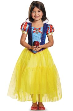 Discover our huge selection of Snow White costumes. Become the fairest of the land and escape the Wicked Queen and meet your Prince this Halloween. Whether you're looking for kids costumes or even adult Snow White costumes - we have it all! Snow White Costume, White Costumes, Girl Costumes, Princess Costumes, Disney Costumes, Snow Dress, Snow Outfit, Trendy Halloween, Halloween Costumes For Kids