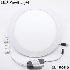 YNL High brightness LED Panel light lamp AC 220V 110V 3W 4W 6W 9W 12W 15W 18W led ceiling recessed downlight round panel light