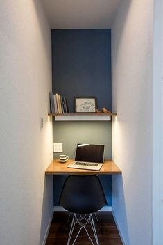 Tiny Home Office, Home Office Closet, Small Home Offices, Home Office Setup, Home Room Design, Home Office Design, Living Room Designs, Hobby Design, Chic Office Decor