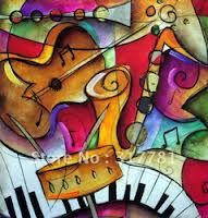 pinturas con instrumentos musicales