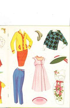 "Patty Duke Paper Dolls: inspired by the ""Patty Duke Show,"" 1964, Whitman #1991 (9 of 9)"