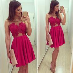 Encontrar Más Vestidos Información acerca de Rosalin envío gratis primavera verano 2015 Sexy vestido de fiesta vestido rosa Color de moda caliente RB403171, alta calidad Vestidos de Rosalin Fashion Store en Aliexpress.com