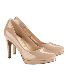 Look what I found on #zulily! Sandstone Patent Chelsea Leather Pump by Cole Haan #zulilyfinds