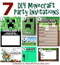50+ DIY Minecraft Birthday Party Ideas – About Family Crafts