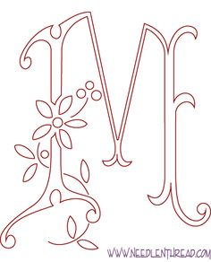 Monogram for Hand Embroidery: M – Needle'nThread.com