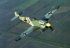 HA1112-M1L Buchon. Spanish built using bf109 airframes. This version used the RR Merlin powerplant. Painted to resemble bf109's, and used in several films as such.