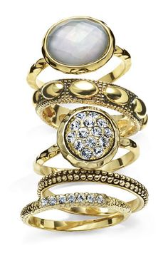 Ariella Collection Multi Stone Stackable Rings