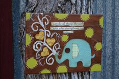 ElephantPhilipians 413I can do all things by hodgepodgebycarley, $28.00