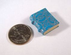 Miniature Leather Cover Book Journal Diary OOAK Handmade Dollhouse