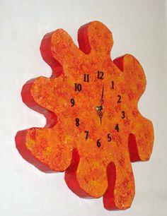 שעון - עבודה בקרטון | Flickr - Photo Sharing!רהיטים מקרטון cardboard furniture