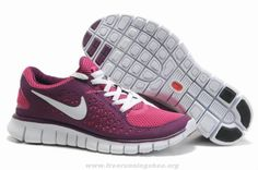 Buy Womens 395912-105 Nike Free Run Pink Purple For Wholesale