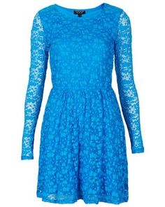 Bubble Lace Skater Dress, Topshop