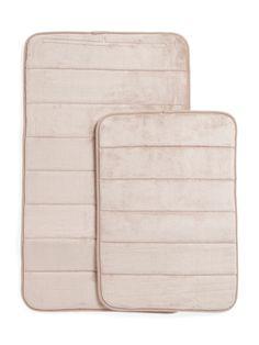 2pc Memory Foam Density Bath Mat