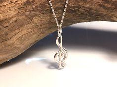 Naszyjnik srebrny klucz wiolinowy  - LuxoroDesign - Naszyjniki srebrne