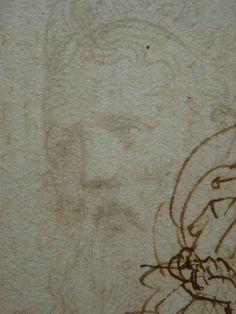 "PARMIGIANINO,1524 - Portrait de Galeazzo Sanvitale, Seigneur de Fontanellato, Etude (Louvre INV6472-Verso) - Detail -e  -  TAGS : drawing dessin disegno figure figures people personnes art painter peintre details détail détails ""Le Parmesan"" Parmesan ""Francesco Mazzola"" Francesco Mazzola Italy Italy Parme Parma France croquis étude study sketch sketches sanguine ""red chalk"" portrait Seigneur Fontanellato lord tête homme man ""tête d'homme barbu"" ""bearded man's head"" barbu bearded beard barbe"