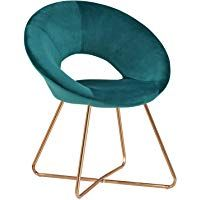 口音扶手椅 家庭办公椅duhome圆椅老板办公室产品接待室金色金属框架